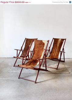 Love these vintage chairs