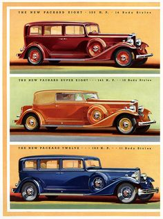 Packard - The New 8, Super 8 & 12 - 1933