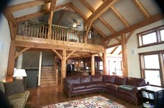 Timberframe, wood loft by Design 4 Style in West Bend, WI