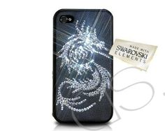 Silver Dragon Bling Swarovski Crystal iPhone 5 and 5S Case                          http://www.dsstyles.com/product/silver-dragon-bling-swarovski-crystal-iphone-5-case crystal iphon, silver dragon, swarovski crystals, dragon bling