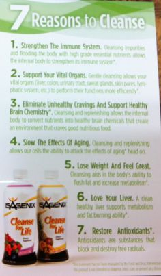 7 reasons to cleanse! The most amazing and rewarding feeling in the world! #isagenix