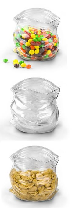 Let your eyes fool you. Part candy bowl, part optical illusion, the Glass Candy Dish makes a versatile home for both knickknacks and favorite snacks.  Great for the office!