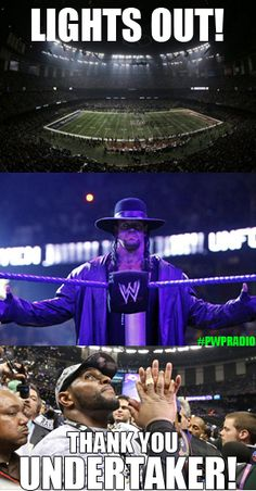 Deadman rising during the...SuperBowl? #WWE