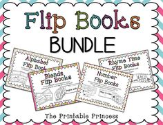 A FUN way to teach traditional skills. Flip book BUNDLE includes books for: alphabet/beginning sounds, numbers, rhyming words, and beginning blends/digraphs.