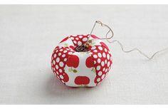 Maçãs de tecido craft