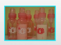 Set of 6 Baby Bottle Monograms or Names by CuttinCrazy on Etsy, $15.00