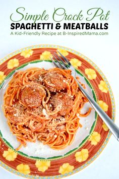 Simple Crock Pot Spaghetti and Meatballs #sponsored #CansGetYouCooking