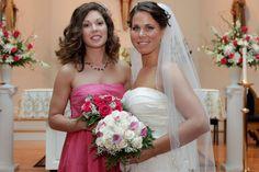 Strapless Pink Bridesmaid Dress