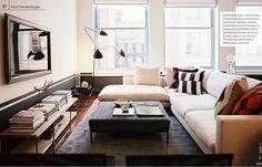 Nina Freudenberger / Patrick Cline / Lonny {eclectic modern living room}