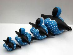 Flying Big Ladies - Kunsthars - In 4 maten en 6 dessins www.gertruudhartog.nl