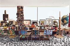 The office/living area in Diane von Furstenberg's Manhattan penthouse.