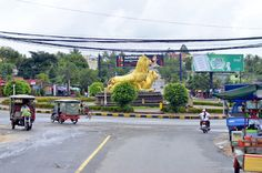 The Lions are waiting for you in Sihanoukville, Cambodia. This statue is representative of the city.
