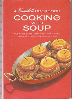 A Campbell Cookbook Cooking with Soup Vintage Campbells Recipes Red Hardcover | eBay