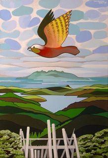 bird paintings, kaka, zealand art, don binney, paint imag, zealandmi homeland, nz artist