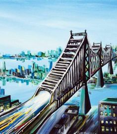 Original art for sale at UGallery.com | Queensboro by Piero Manrique | acrylic painting