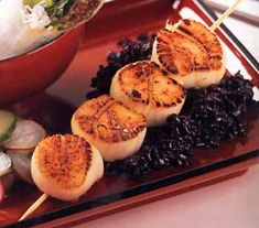 Seared Scallops with Asian Lime-Chile Sauce #myplate #protein