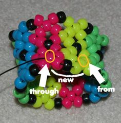 Tutorial on how to make Kandi Cuffs. You will need lots and lots of pony beads and and lengthy string for each one you make!