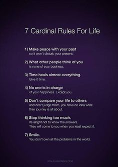 word of wisdom, golden rules, remember this, cardin rule, life rules, quote life, thought, cardinals, wise words quotes life