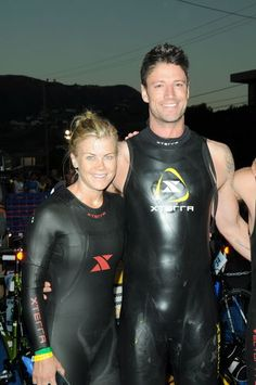 Alison Sweeney and James Scott finish The 26th Annual Nautica Malibu Triathlon. Click photo to find out who had the best time. #DOOL