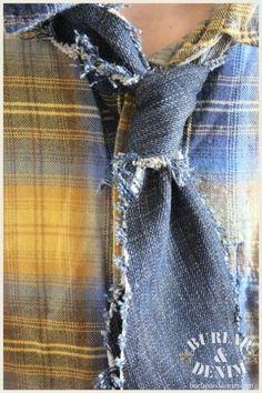 Denim Tie #DIY #how-to #tutorial