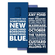 doctor who wedding invitations    I'm definitely having a Doctor Who wedding!!!