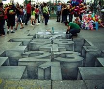 3d street art, drawings, sidewalk art, 3d chalk art, 3d artwork, hopscotch, number, sidewalk chalk art, streetart