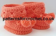 Free baby crochet pattern for booties from http://www.patternsforcrochet.co.uk/booties-for-best-usa.html #crochet #crochetbooties