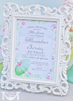 April Showers Party Spring Party  PRINTABLE by CutiePutti on Etsy, $15.50