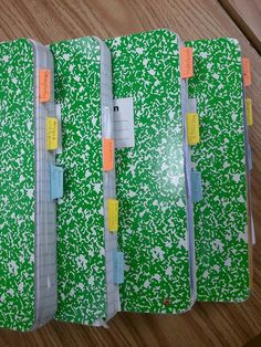 Interactive Notebook: Stampin' Up hole punch for tabs