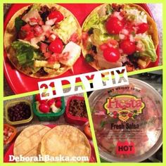 21 Day Fix Meals - Taco night!