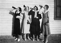 Prohibition: flappers drink bootleg alcohol, 1925
