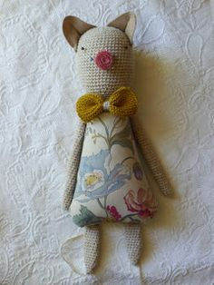 SweetNellie - clever combination of sewing and crochet and felt! Really lovely