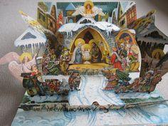 Vintage Pop Up Book V. Kubasta Nativity Creche.