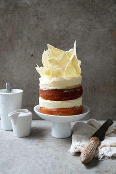 YUM! Lemon White Chocolate Cheesecake Layered Cake