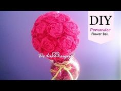 How to: Crepe Paper Roses & Pomander Flower Ball