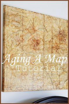 DIY vintage map