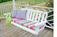 cushion covers, nosew cushion, porch swing, craft idea, cushions
