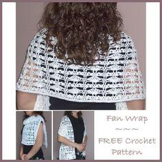 Crochet Fan Wrap, http://crochetjewel.com/?p=10603