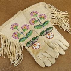 buckskin leather, nativ american, bead, vintage, glorious glove, sioux indian, cowgirl, vintag 1940s, antiques