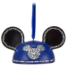 Crystal Mickey Mouse Icon Ear Hat Ornament