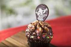 Chocolate Cupcakes with Hazelnut-chocolate buttercream.  In honor of the 25th anniversary of its opening, Disneys Hollywood Studios has introduced a delicious new designer cupcake that you can pick up at Walt Disney World or make for yourself at home.