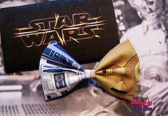 Star Wars  Hair bow or Bow tie Starwars R2D2 and CP30 Scifi Geeky fun fabric bow