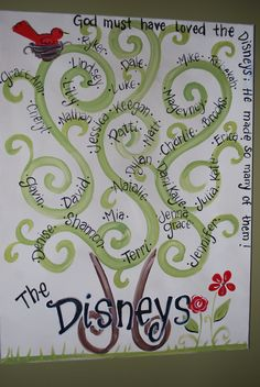 super cute family tree idea or can be used with students names/pics