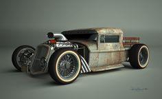 Rat Rod Pickup.