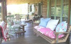 Adorable porch. petticoats, perfect porch, dream, porches, homes, ador porch, cozi porch, nice porch, sunroom