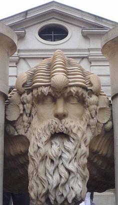 Neptune fountain, St. Paul's Church, Covent Garden, London