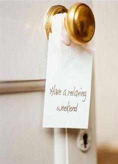 door sign weekend