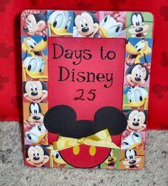 Disney countdown idea