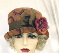Womens  Hat Vintage 20s Bohemian Style Bucket in by buygail, $125.00