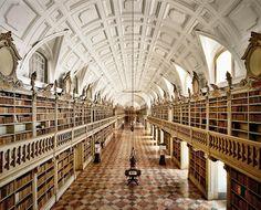 Library of the Convent at the Palacio Nacional de Mafra, Portugal